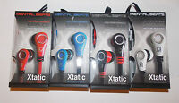 Mental Beats Xtantic Earbuds Cell Phone Earphones Microphone Pick Color