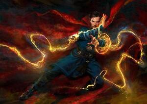 DOCTOR STRANGE POSTER Marvel Comics Wall Art Picture Print Photo A3 A4