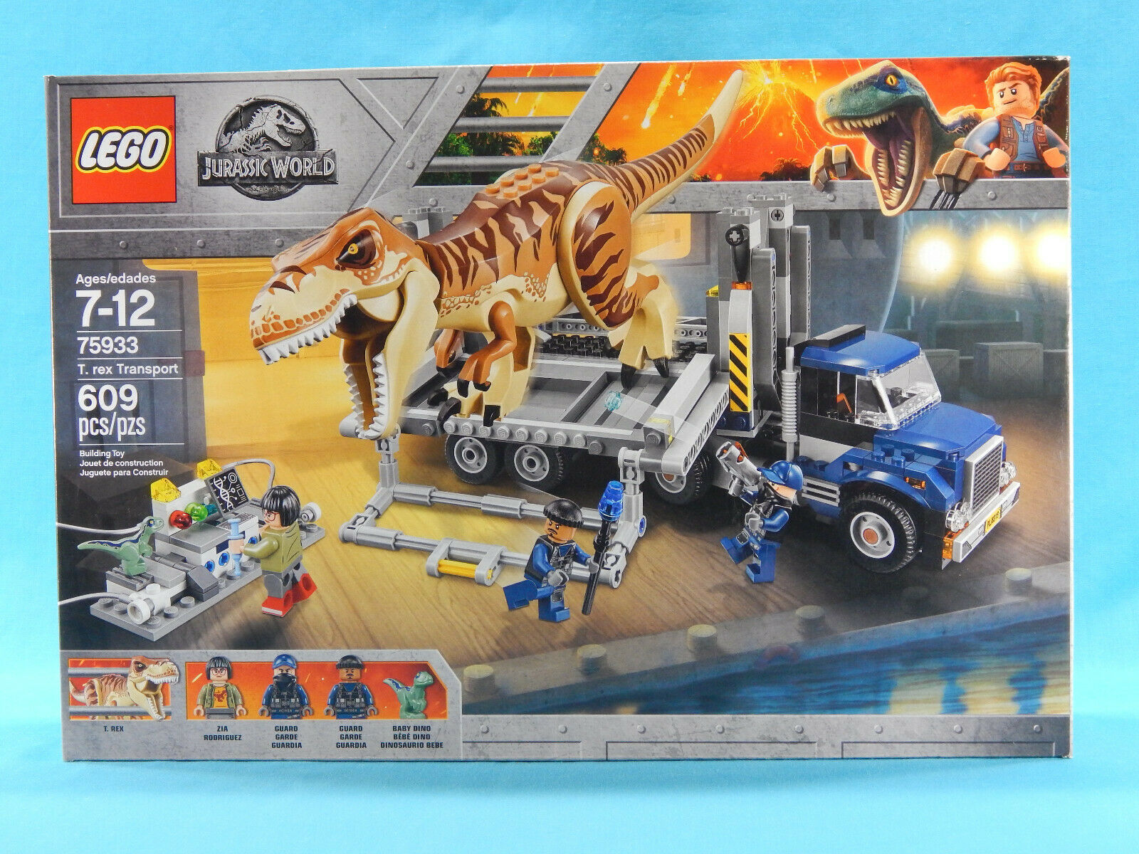 Lego Jurassic World 75933 T. Rex Transport  609pcs nouveau Sealed 2018 Tyrannosaurus  vente avec grande remise