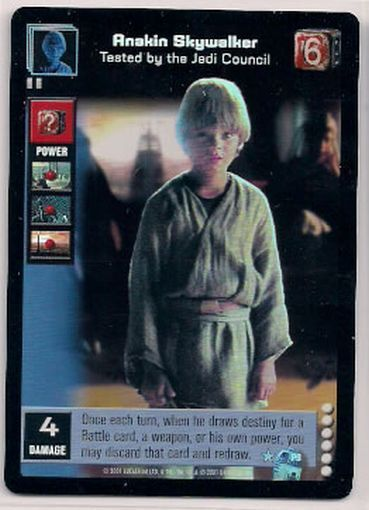 Star Wars Young Jedi CCG Reflections FOIL P9 Anakin Skywalker, Tested by Jedi