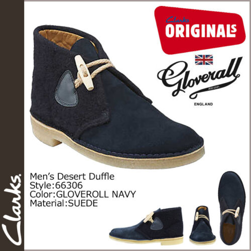 Clarks Original Mens ** DESERT DUFFLE BOOTS ** NAVY SUEDE COMBI ** UK 7,8,9,10 F