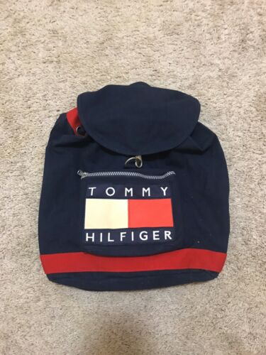 Vintage 90's Tommy Hilfiger Drawstring Backpack