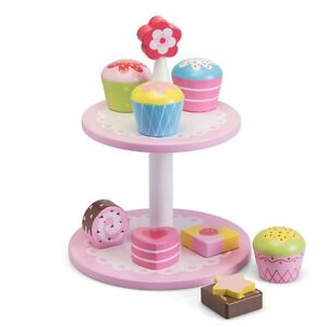 Image Is Loading Wooden Flower Cake Stand Fun Colourful Childrens Traditional