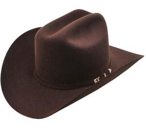 e6e17d2e0 Details about Men's Serratelli 6x Amapola Beaver Felt Cowboy Hat Made In  USA Cali Style Brim