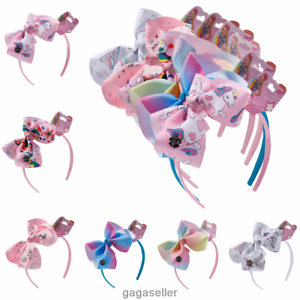 6-034-Girls-Kids-Bows-Headband-Hair-Band-Unicorn-Hair-Accessories-Cartoon-Hair-Bow