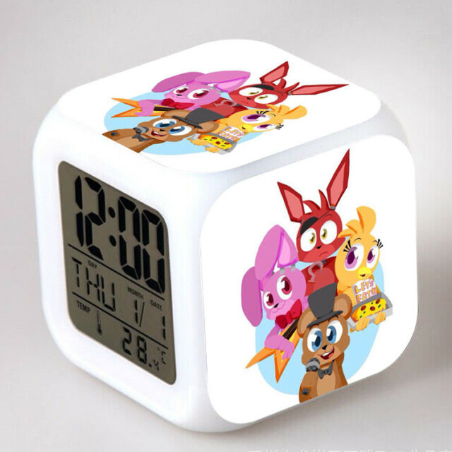 Kxdn Roblox Alarm Clock Colorful Mood Led Alarm Clock Snooze Night 2020 Fnaf 7 Color Changing Led Night Light Alarm Clock Watch Toy Gift 50 Types For Sale Online