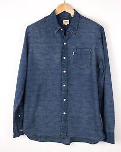 Levi's Strauss & CO Hommes Décontracté Jeans Chemise Taille L BAZ489