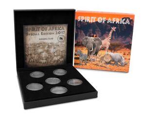 6-X-1-000-Francs-Burkina-Faso-2017-Spirit-of-Africa-Special-Edition-Rhinoceros
