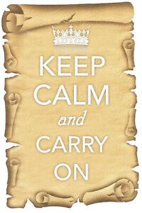 Keep-Calm-And-Carry-On-Panneau-Metallique-Plaque-Voute-Etain-Signer-20-X-30-CM