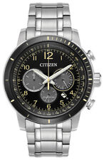Citizen Eco-Drive Brycen Men's CA4358-58E Chronograph Yellow Accents 44mm Watch