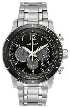 Refurb Citizen Eco-Drive Brycen Men's Chronograph Yellow Accents Watch