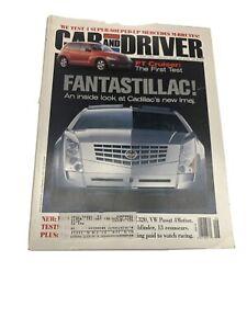 Car and Driver  Magazine June 2000 Cadillac Imaj--How To Speak Cadillac