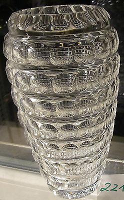 Zielsetzung Schöne Geschliffene Kristallglas Vase, Unsigniert, Ca: H 23cm,dm 13cm, 620 Gr