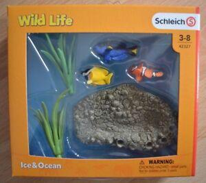 Schleich-Sammelfigur-Wild-Life-Ice-amp-Ocean-Korallenfische-Set-mit-3-Fischen-42327