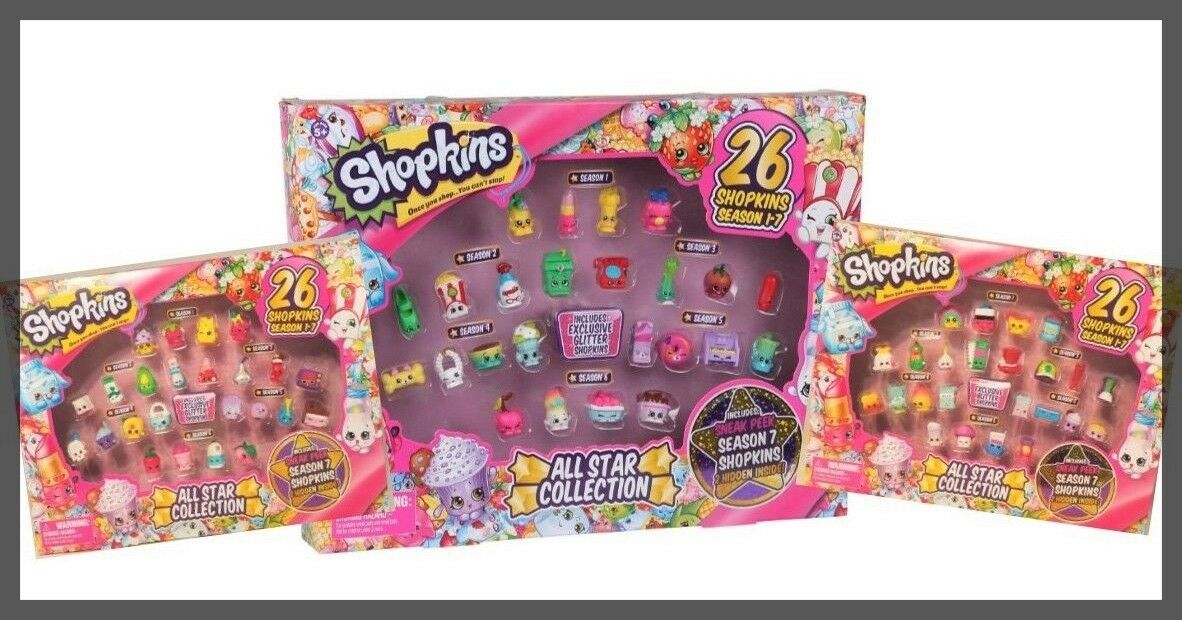 NEW Shopkins Seasons 1-7 All Star Collection Gift Lot Complete set 1 2 3 4 5 6 7