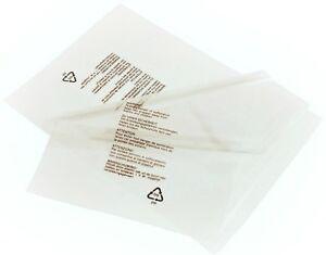 10-Selbstdichtend-klar-Polypropylen-Taschen-22-9cmx12-034-Kleidersaecke