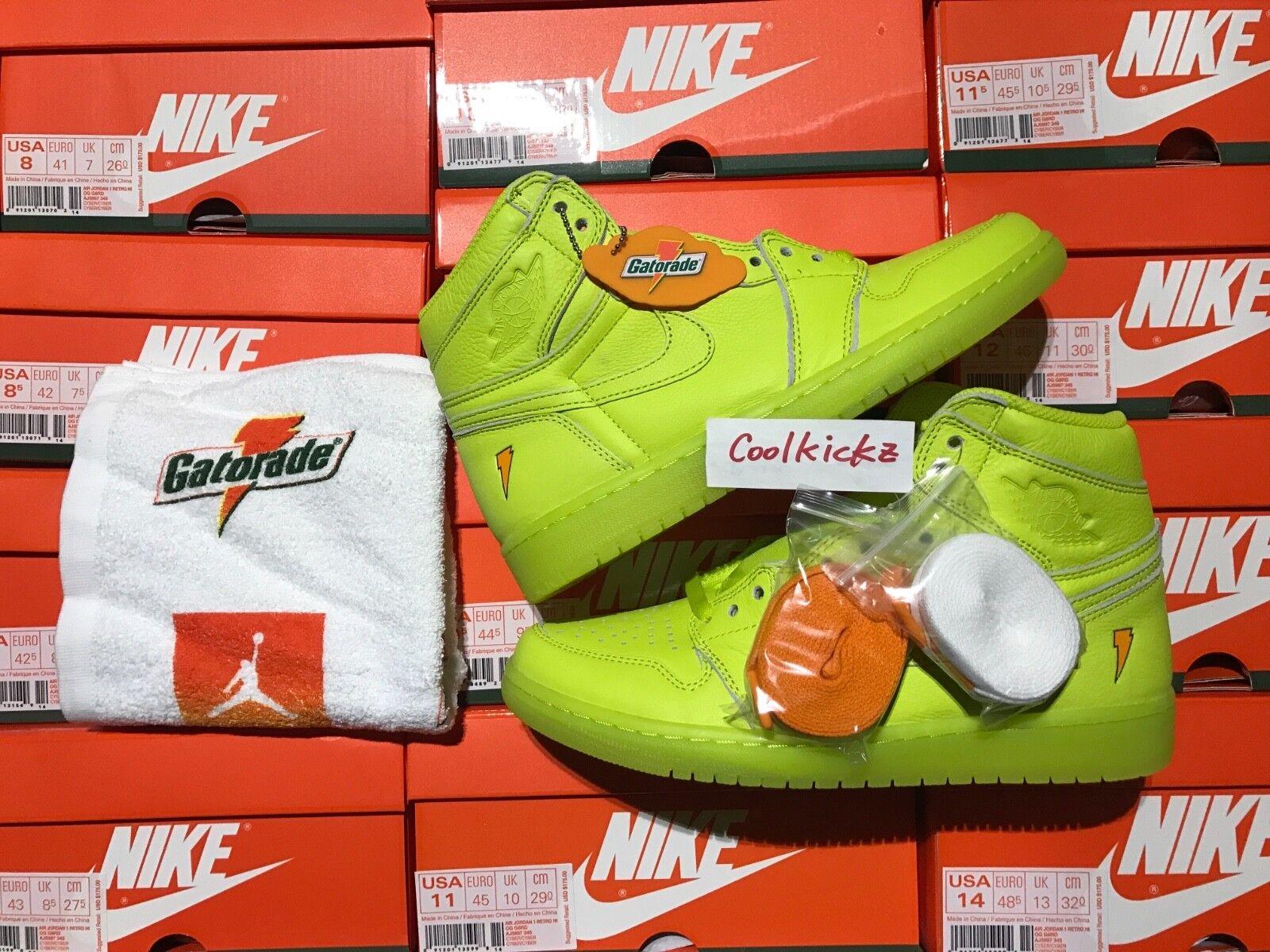 Nike 1 air jordan 1 Nike '8 14 giallo limone e lime alto gatorade aj5997-345 115506