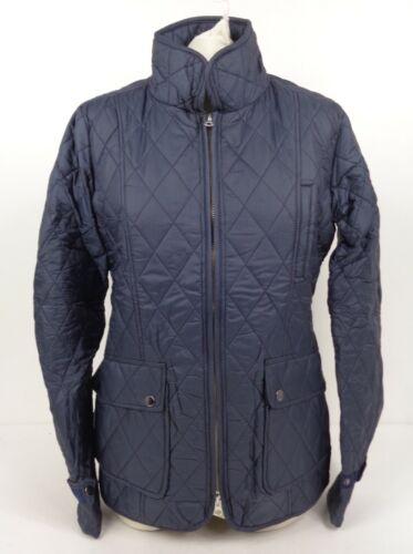 RICHI Équitation Veste bleu marine femme 2-Way zip poches XS /& S C8 HRJ1