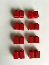 Lego 4216 Brick 1 x 2 with Groove Red//black x 1