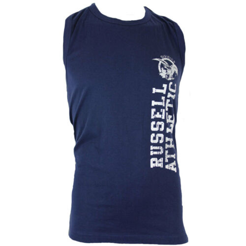 New Men/'s Russell Athletic Eagle Logo Sleeveless T-Shirt Vest Top