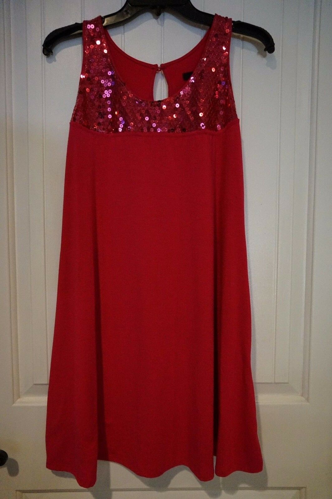 Dazzling Hott Pink Express size S A-line with sequin dress