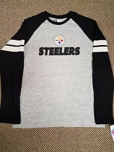 PITTSBURGH STEELERS LONG SLEEVE TEE MEN S MEDIUM NFL TEAM APPAREL ... 8d83e578c