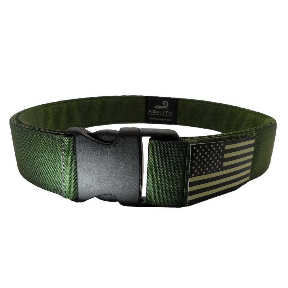 Army Lightweight Belt Tactical Heavy Duty + With Patch Area . OD GREEN 2  S-XL