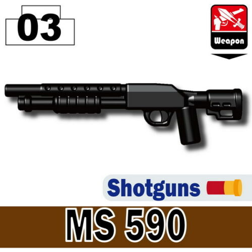 Tactical Shotgun compatible with toy brick minifigures W161 MS 590
