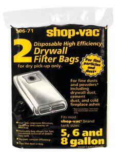 Shop-Vac  19.5 in White  3 pk W Wet//Dry Vac Bag  5-8 gal L x 11 in