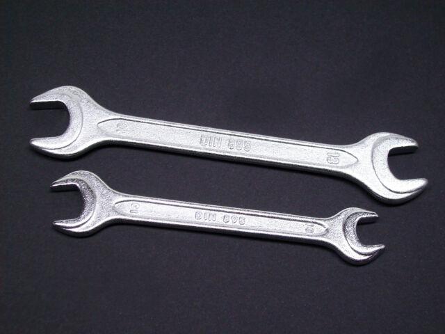 Gabelschlüssel Doppelmaulschlüssel DIN 895, wählbar SW 13-15,  10-13mm  o. beide