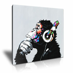 pop art gorilla canvas animal framed art kids room deco. Black Bedroom Furniture Sets. Home Design Ideas