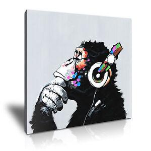 Pop art gorilla canvas animal framed art kids room deco more size ebay - Deco pop art ...