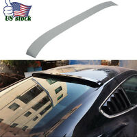Car Carbon Fiber Rear Window Roof Spoiler Wing Trim Fit 15-17 All Ford Mustang