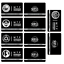 miniature 10 -  SCP Foundation Keycards sticker pass 10pcs PLASTIC CARD cosplay games gift