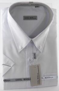 Button Collo Classica Manica Uomo Art Corta Man Cool Down Camicia 245 Bianca dZ40wYq0