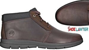 Details about TIMBERLAND MEN'S GRAYDON MID CHUKKA DARK BROWN LEATHER BOOTS SHOES ALL SIZES USA