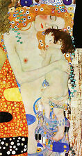 "GUSTAV KLIMT : THE THREE (3) AGES OF WOMAN (DETAIL) : 24"" FINE ART CANVAS PRINT"