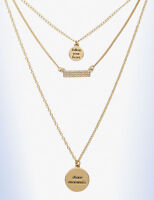 Bcbgeneration Gold-tone Wanderlust 3 Charm follow Your Heart Layering Necklace