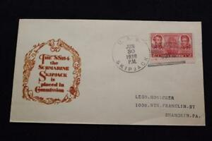 Navale-Cover-1938-Nave-Cancel-Commissioning-Uss-Palamite-SS-184-3011