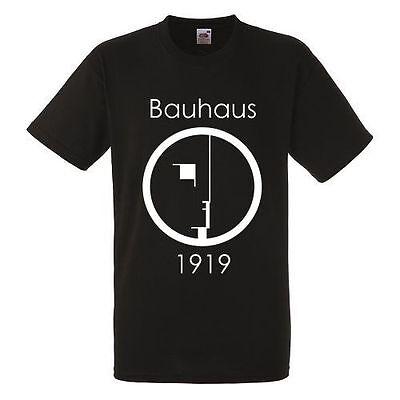 Bauhaus Logo Black T-shirt Men Shirt Rock Band Tee Music