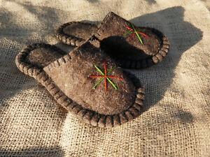 Filz-Hausschuhe-Handarbeit-aus-Kirgisien-Filzpantoffeln-Filzpuschen-Huettenschuhe