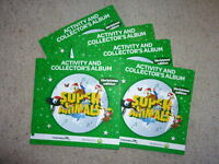 5 X Woolworths Super Animals Christmas Special Edition Albums - With Cards