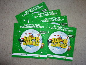 5-x-Woolworths-Super-Animals-Christmas-Special-Edition-Albums-Folders-No-Cards