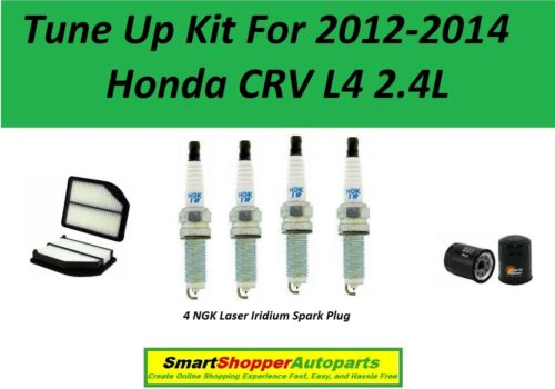 Oil Filter Tune Up For 2012 2013-2014 Honda CRV L4 2.4L Air Filter Spark Plugs