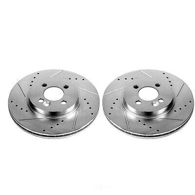 Power Stop EBR1248XPR Front Evolution Drilled /& Slotted Rotor Pair