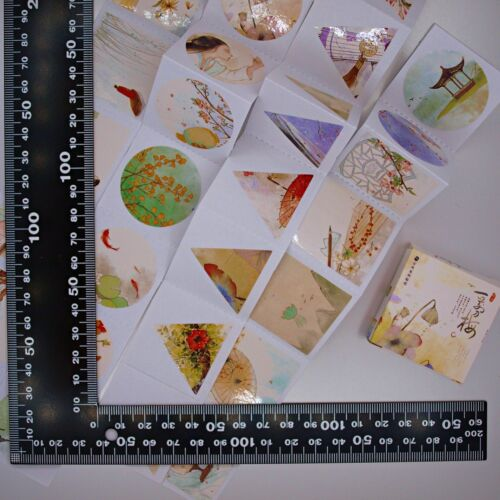 Cute Asian Watercolour Plant Stickers —40 stickers in box—Scrapbooking Craft Fun