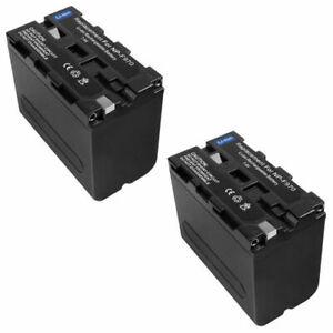 pbd-d50 pbd-v30 np-f550 np-f570 1 año de garantía Batería 2200mah para Sony d-v500