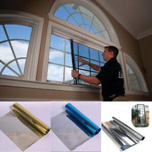 Glass-Self-Adhesive-Film-DIY-Reflective-Mirror-Window-UV-Sun-Protection-Spy-Foil