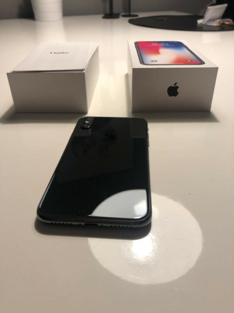 iPhone X, 64 GB, sort, Perfekt, iPhone X sælges - ingen…