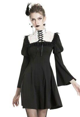 Dark in Love Bell Sleeve Witch Dress Black Asymmetric Hem Gothic Beauty DW254
